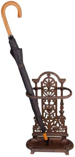Esschert LH91 Regenschirmständer, Gusseisen, 50 x 33 x 16 cm