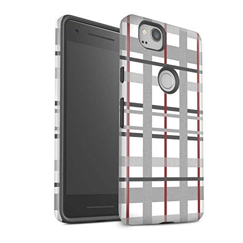 Stuff4 matte schokbestendige beschermhoes/cover/case/behuizing/telefoon voor Google Pixel 2 / rooster bordeaux/mode winter design