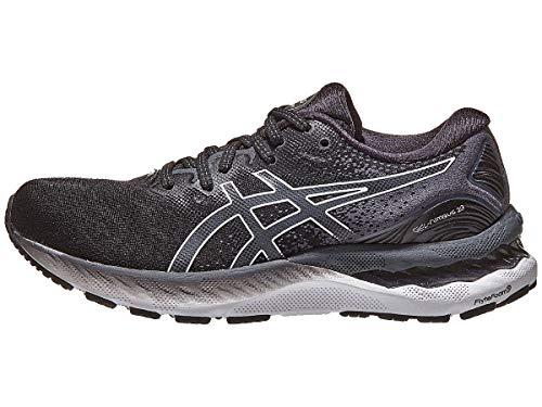 ASICS Women's Gel-Nimbus 23 Running Shoes, 9, Black/White