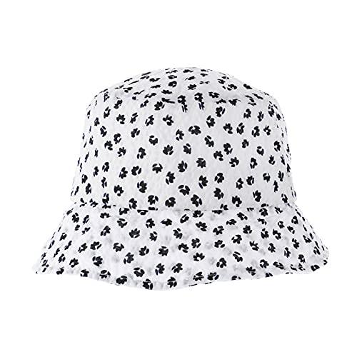 ABOOFAN Sombrero de Verano de Mujer Sombrero de Cubo de Tela Floral Protección UV Sombreros de Pescador Sombreros Plegables de Ala Ancha Gorra de Pesca para El Verano de Viaje Interior Al