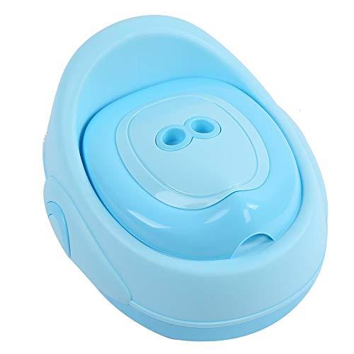 Vasino Toilette di Viaggio, 3 in 1 Vasino per Bambin WC per bambini Portatile Design Divertente per Bambini Schienale Ergonomico Alto Confortevole e Robusto(blu)