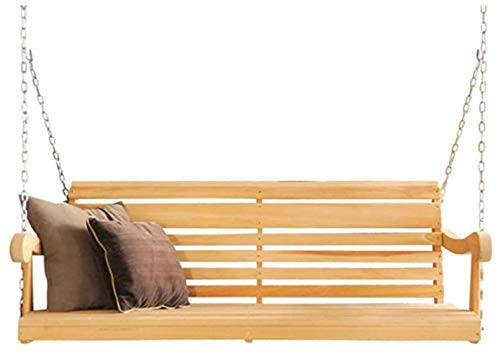 5 Ft Porch Swing from High end Hand Selected Rot-Resistant Cypress Wood - Chains Included