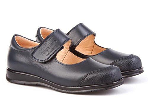 Zapatos Merceditas Colegiales con Puntera Reforzada Todo Piel, mod.463. Calzado infantil (Talla...