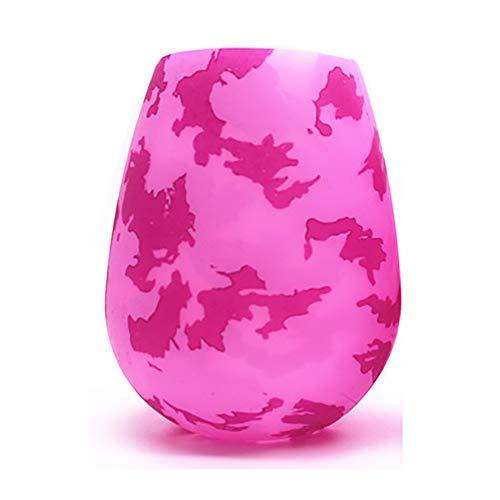 Coloridas copas de vino de silicona, vino tinto y blanco Drinkware irrompible café cerveza té taza regalo para niña-H