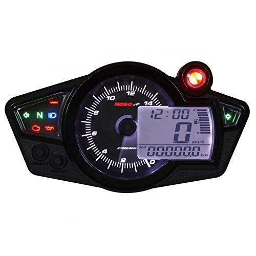 KOSO Rx1n+ GP Style II Multifunktions-Drehzahlmesser, Schwarzer Hintergrund