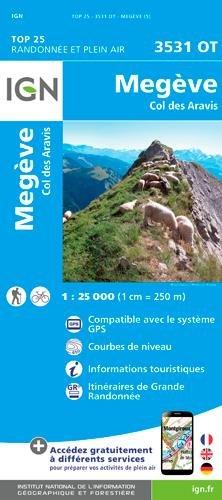 Megève 1 : 25 000: Col des Aravis