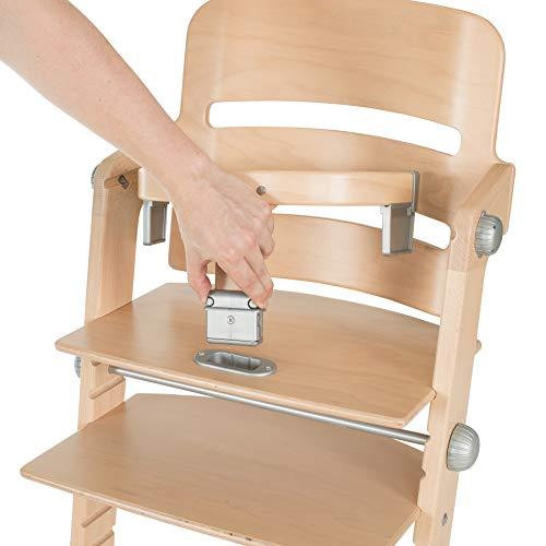 Geuther, Chaise Tamino Naturelle, Chaise haute évolutive, Bois, réglable hauteur.