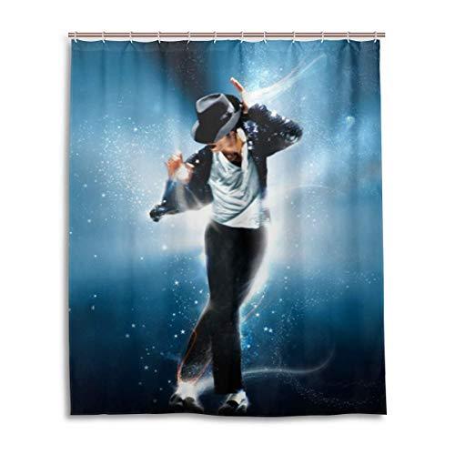 NR Michael Jackson Duschvorhang Liner Wasserdichtes Polyestergewebe Badezimmer Duschvorhang Duschvorhang 12 Haken