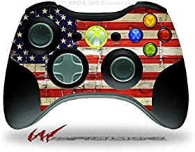 XBOX 360 Wireless Controller Decal Style Skin - Painted Faded and Cracked USA American Flag (CONTROLLER NOT INCLUDED)