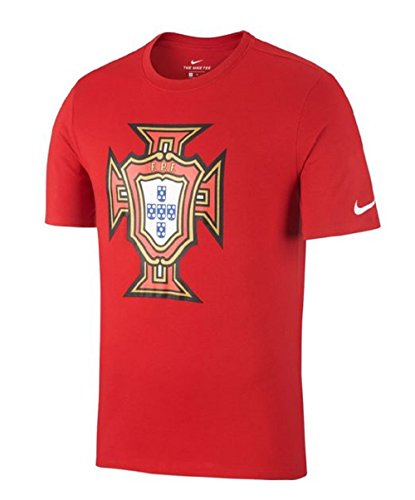 Nike Fpf M Nk Tee Evergreen Crest, T-Shirt für Herren M Gym Red