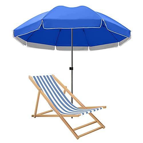 Sombrilla de Patio Exterior de 2,2 m, sombrilla de Mesa de Mercado Grande de 3,4 m Sunbrella, sombrillas Redondas a Prueba de Viento, con Costillas Resistentes y Bolsa de Transporte, para cé