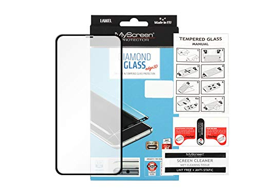 etuo Panzerglas für Apple iPhone XS - Panzerglas MyScreen Protector Diamond Glass Edge 3D - Schwarz Glas Schutz Display Panzer Schutzglas