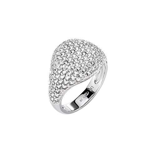 Morellato Anello da donna, Collezione Tesori, in argento 925‰, zirconi, bianco - SAIW65016