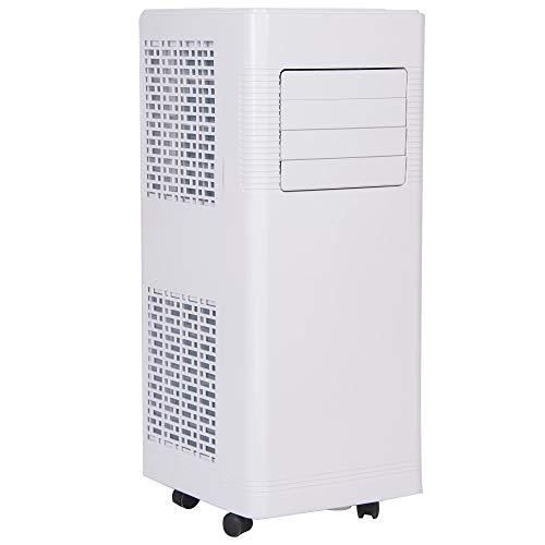 4in1 Mobile Klimaanlage | 9.000 Btu/h | 2 Geschwindigkeitsstufen | Klimagerät | Luftreiniger | Klima | Ventilator mit Fernbedienung | Luftkühler | Entfeuchter | Nachtmodus | Weiß/Schwarz