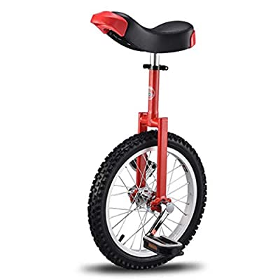 pan hui 20 inch Junior Unicycle High-Strength Manganese Steel Fork, Adjustable Seat, Aluminum Alloy Buckle Bicycle High-Strength Steel Cycling Outdoor Sports Fitness Exercise Health
