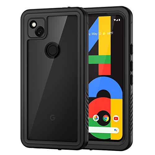 Focusor Funda para Google Pixel 4A-4G, [IP68 resistente al agua] 360 grados, antigolpes, resistente al polvo y a la nieve, para el exterior, color negro