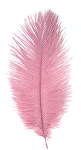 DIGE n27pl06/301 - Sachet de 3 plumes d'autruche 20 cm, rose