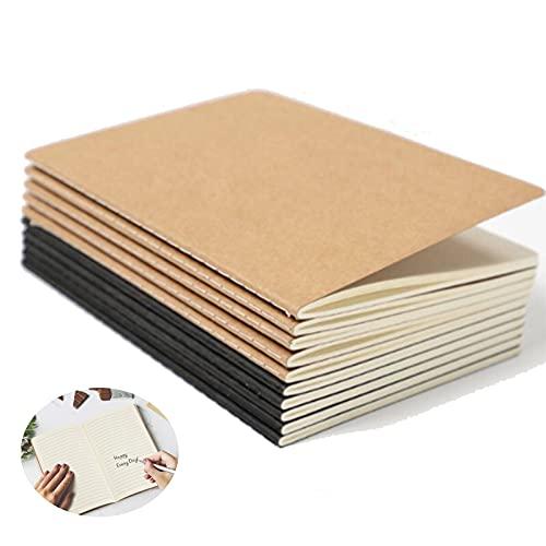 12 Piezas Bloc De Notas a5,Cuadernos Kraft,Diario De Viaje,a5 Tapa De Kraft,Libretas Grapadas,Cuaderno Clásico,Para Tomar Notas,Dibujar,Garabatear,Estudiar,Trabajar