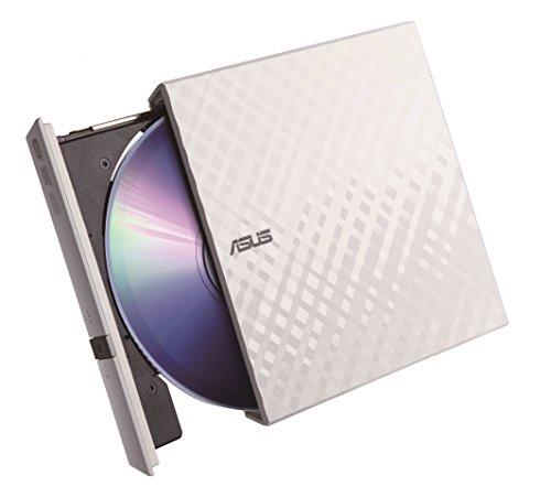 ASUS外付けDVDドライブ 軽量薄型/M-DISC/バスパワー/Win&Mac/USB2.0(USB3.0搭載PCでも利用可)/書込みソフト付属/ホワイト SDRW-08D2S-U LITE/WHT