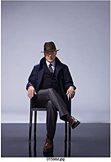 The Blacklist James Spader as Raymond Reddington Seated Promo Wearing Hat Serious 8 x 10 inch Photo