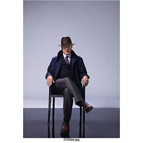 The Blacklist James Spader as Raymond Reddington Seated Promo Wearing Hat Serious 8 x 10 inch Photo