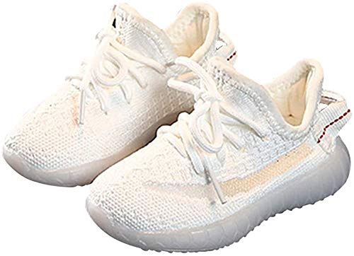 Kids Shoes Boys Sneakers Fitness & Cross-Training Girl Running Athletic Bowling Sport Shoes (7 Toddler,White)