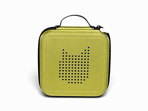 Tonie Transporttasche Grün: Die Box zur Aufbewahrung von bis zu 20 Tonies Hörfiguren - Leicht, Abwaschbar, Reißverschluss, 17,5x17,5 cm