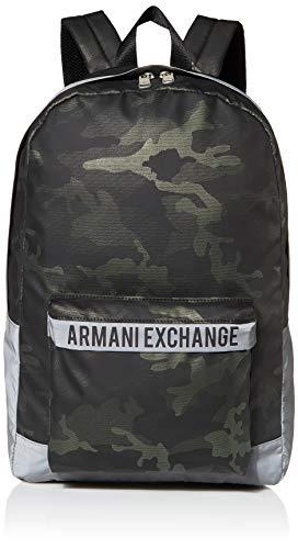 A|X Armani Exchange - Zaino mimetico da uomo, Lyndee (Verde) - 9522830A83400086