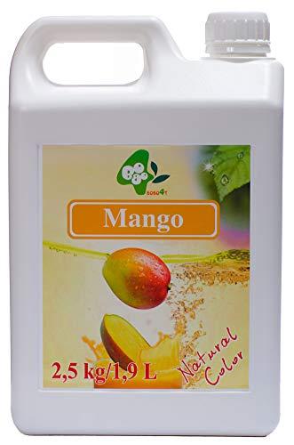 Fruchtsirup für Bubble Tea Früchte Obst Mango ohne künstliche Farbstoffe 2,5kg 1900 ml Sirup Vegan