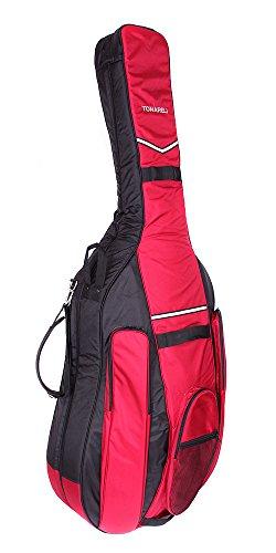 Tonareli Kontrabass Gig bag 7/8 Designer schwarz/burgund BGB78BB - Autorisierter Händler