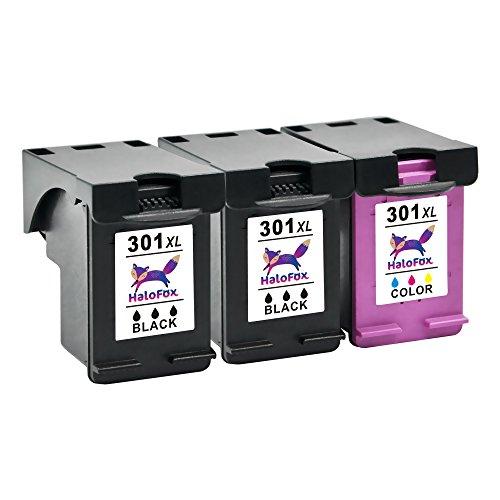 HaloFox 3 Cartuccia Inchiostro Ricaricabile 301XL Nero Tri-colore 301 XL Sostituisci per HP DeskJet 1010 1050a 1510 2050 2510 2540 3050 OfficeJet 2620 All-in-One Stampante Envy 4508 5530 5532 5534 OfficeJet 4630 4636 e-All-in-One Stampante