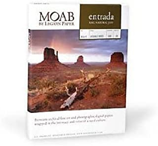 product image for Moab Entrada Rag Natural 300gsm Paper 11 x 17, 25 Sheets