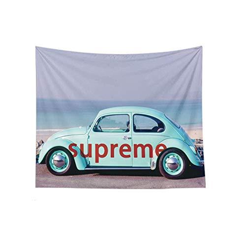 N / A Tapiz de Coche Vintage decoración de Pared Tapiz de Playa de Verano Colgante de Pared Manta de Picnic Tienda de campaña Tapiz de poliéster Tela de Fondo A4 150x150cm