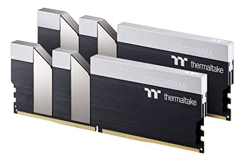 Thermaltake TOUGHRAM Black DDR4 4000MHz C19 16GB (8GB x 2) Memory Intel XMP 2.0 Ready with Real-Time Performance Monitoring Software R017D408GX2-4000C19A