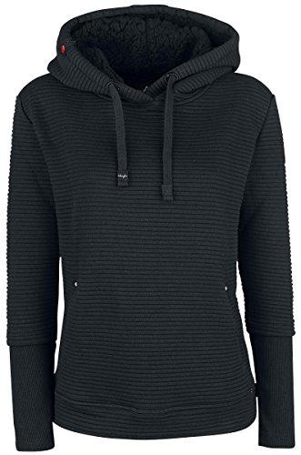 khujo Damen Sweatshirt, Farbe:schwarz;Größe:S
