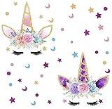 BDECOLL Pack of 2 Unicornio y Star Pegatinas de Pared Vinilos Decorativos para...