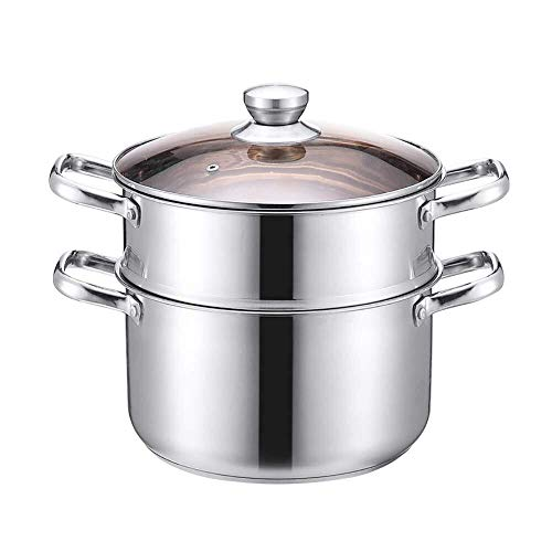 Buy Bargain Steamers For Cooking, Stainless Steel Steamer Pot Thicken Right Angle Composite Multilay...