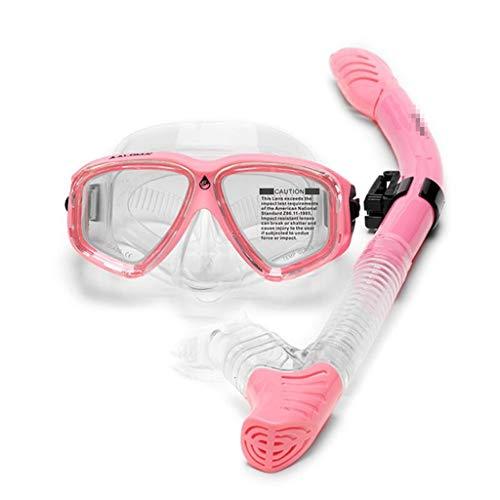 Lente polarizada especial para adulto Snorkeling, disfraz amplio campo de visión de alta definición, buceo, gafas Full Dry Snorkel Natación, gafas gafas gafas de visión clara panorámica,