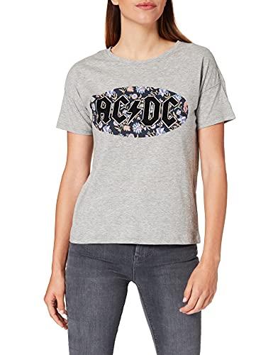 Springfield Camiseta ACDC, Gris Oscuro, M para Mujer