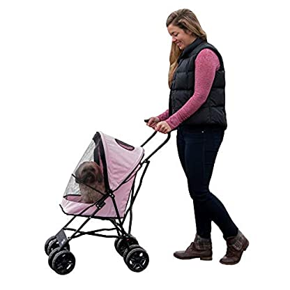 Pet Gear Travel Lite Pet Stroller for Cats and Dogs up to 15-pounds, Pink 1