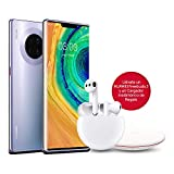 HUAWEI Mate30 Pro - Smartphone con Pantalla Curva de 6.53' (Kirin 990, 8 + 256 GB, Cuádruple cámara Leica, Batería de 4500 mAh), Color Space Silver + Freebuds 3 + Wireless...