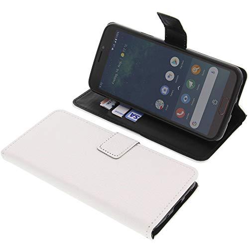 foto-kontor Tasche für Doro 8080 Book Style weiß Schutz Hülle Buch