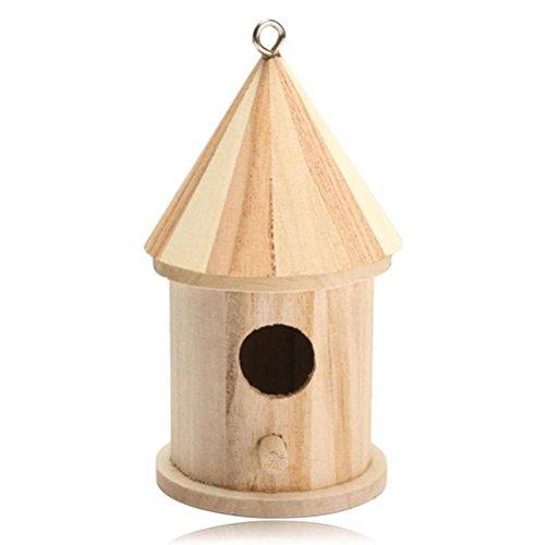 Balacoo Colgante de Madera Casa de pájaros Casa de jardín Casa de Aves al Aire Libre Interior Nido de pájaro para Ardilla Colibrí Pájaro Azul Loro Gorrión Pájaro Pequeño