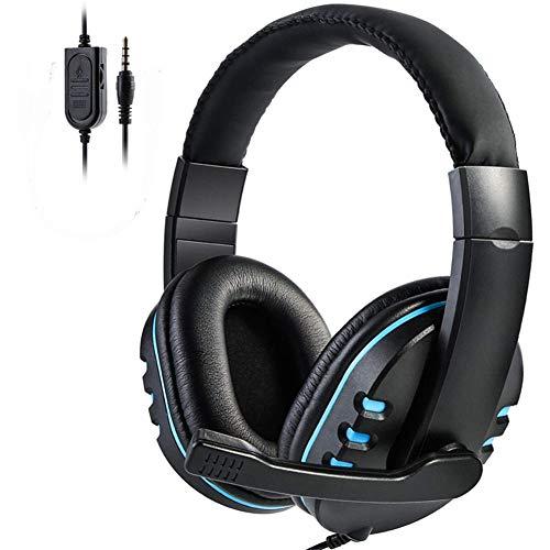 FMC Gaming Cuffie con Cavo Bassi Profondi Gioco Cuffie Cuffia Professionale con Microfono per Il calcolatore sopra Le Cuffie dell'orecchio