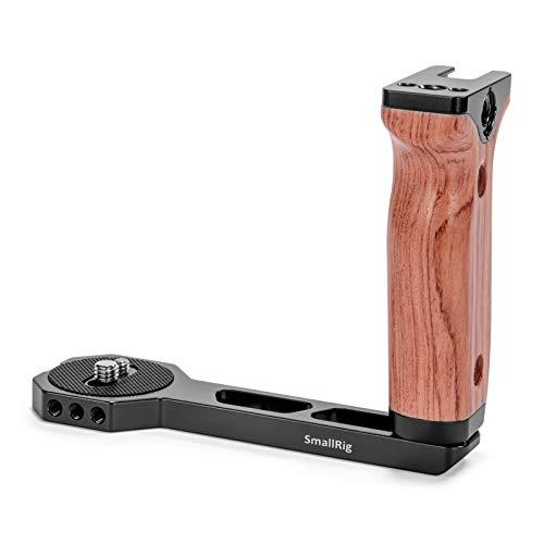 SMALLRIG Wooden Handle per Ronin S/SC/RS2/RSC2, per Crane 2S/2/V2 e Gimbal con Fori Filettati 1/4'' o 3/8'' sul Fondo - 2222
