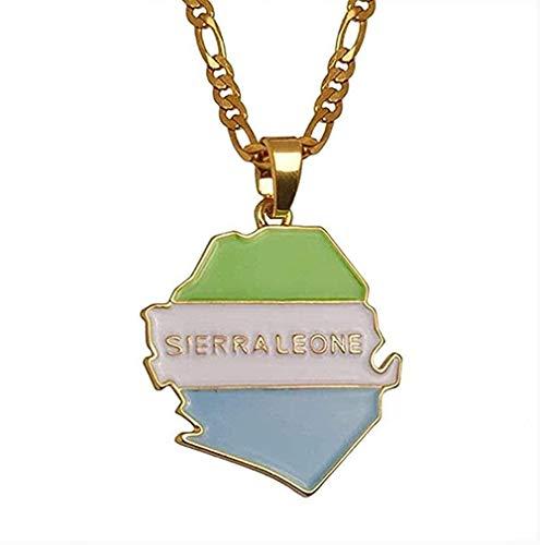Collar Collar De Moda Sierra Map con Collares Pendientes para Joyería para Mujeres/Hombres Color Dorado Sierra Maps Collar Colgante Regalo para Hombres Mujeres Niñas Niños