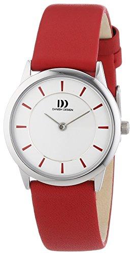 Danish Design Frauen -Quarz-Uhr mit weißem Zifferblatt Analog-Anzeige und Rot Leather 3324547 XS