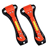 VicTsing 2Pcs Car Safety Hammer, Car Escape Tool with Seatbelt Cutter, Emergency Class/Window