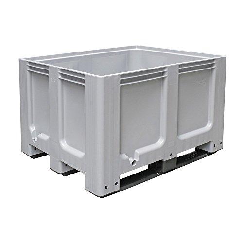Palletbox LxBxH 1200 x 1000 x 760 mm, 3 glijders, vloeistofdicht, enkele draagkracht per box tot 600 kg, koudebestendig tot -40 oC