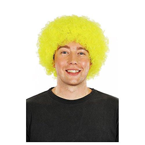La Rigolade Perruque Pop Jaune Fluo - Accessoire de déguisement - Cosplay pour Carnaval - Thême(s) : Disco / Fluo